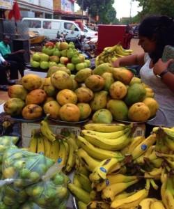 Fresh fruit in street markets