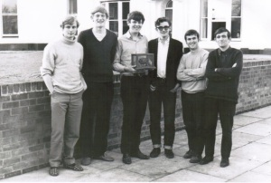 Stephen Williams (centre) and the Junior Common Room committee
