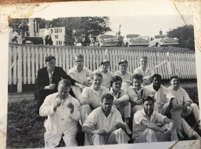50s Cricket team on an away trip