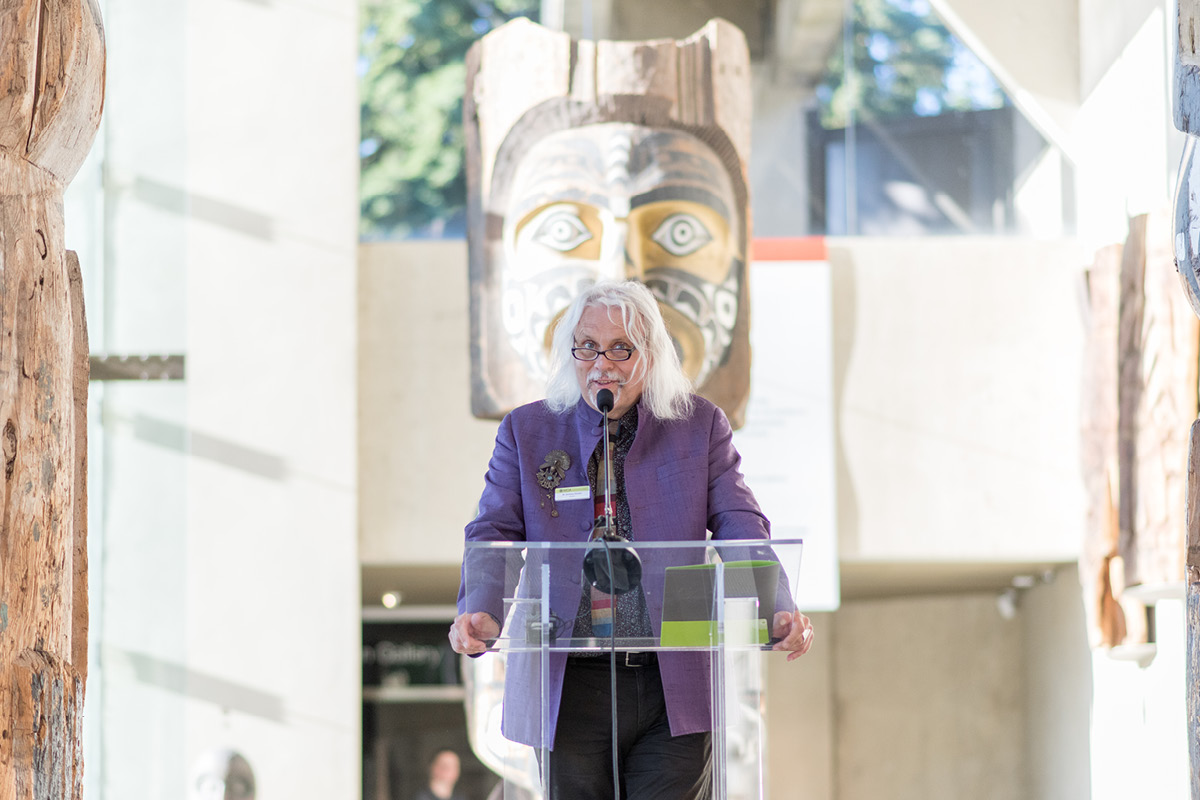 Professor Anthony Shelton, Photo by Ricardo Seah, courtesy of the Museum of Anthropology at UBC